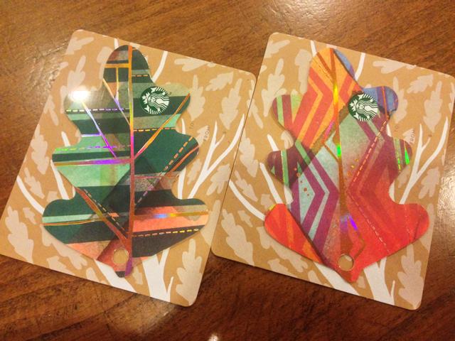 2つのカードを並べて