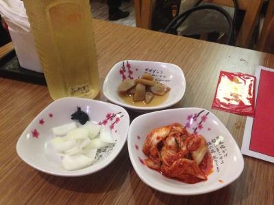 ジャカルタでも韓国料理屋は突き出しが出る