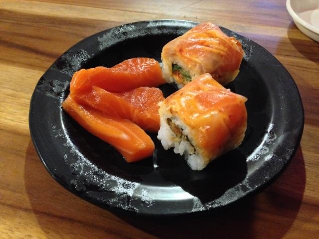 TANPOPO RAMENのサーモン寿司です