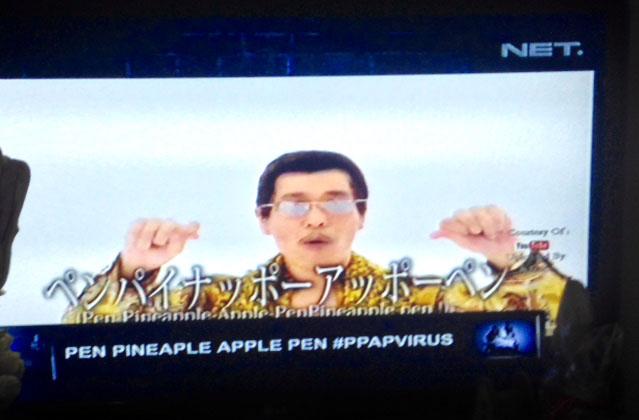 インドネシアのテレビ番組で取り上げられるPPAP